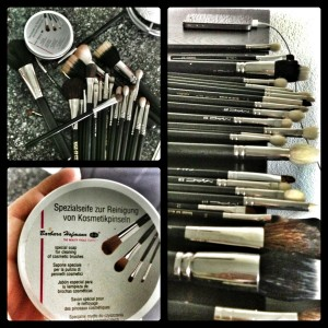 Make-up Pinsel waschen
